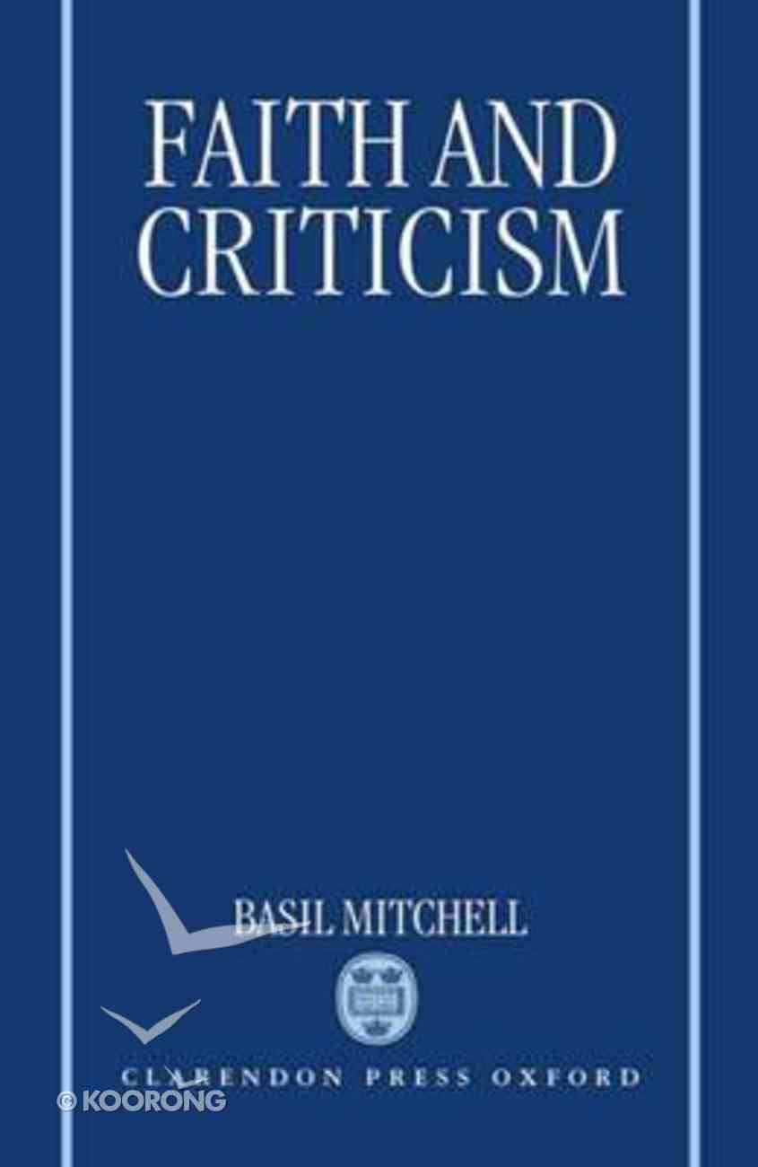 Faith and Criticism Paperback