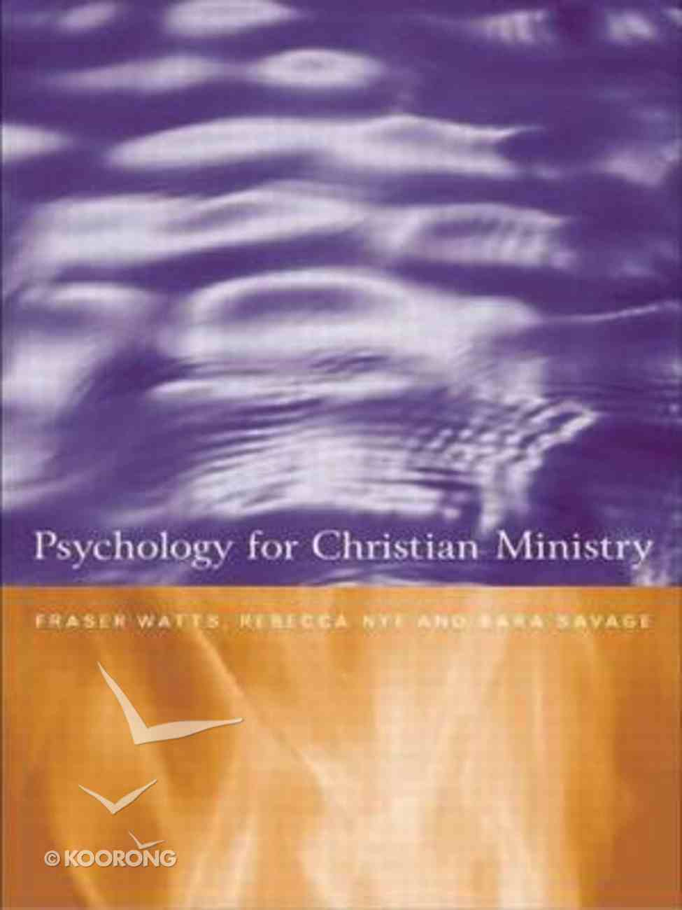Psychology For Christian Ministry Paperback