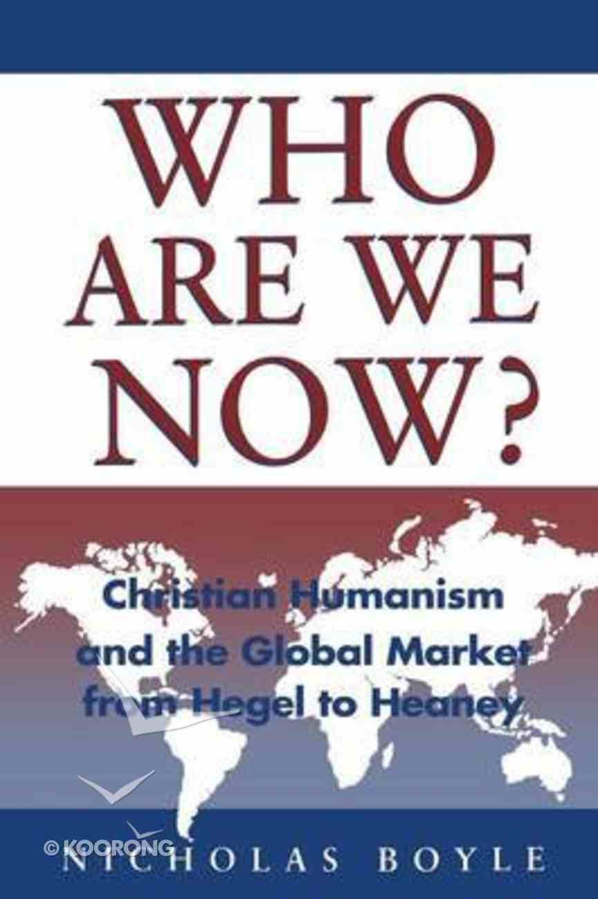 Who Are We Now? Paperback