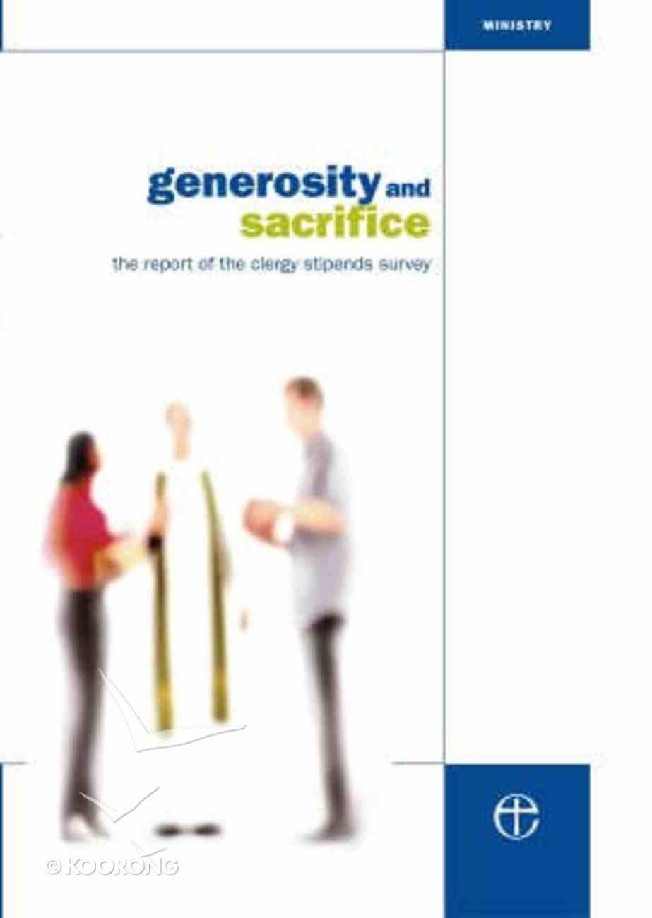 Generosity and Sacrifice Paperback