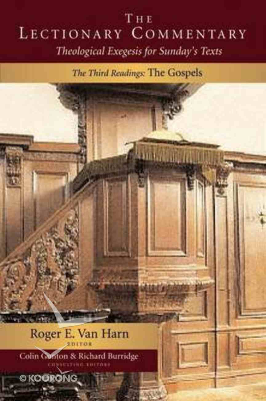 The Lectionary Commentary (Vol 3 The Gospels) Paperback