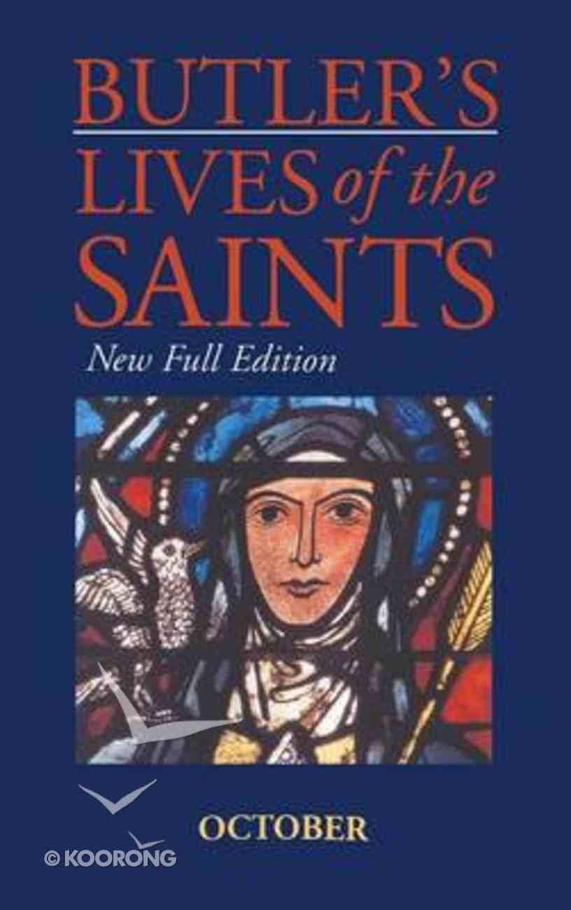 October (Butler's Lives Of The Saints Series) Hardback