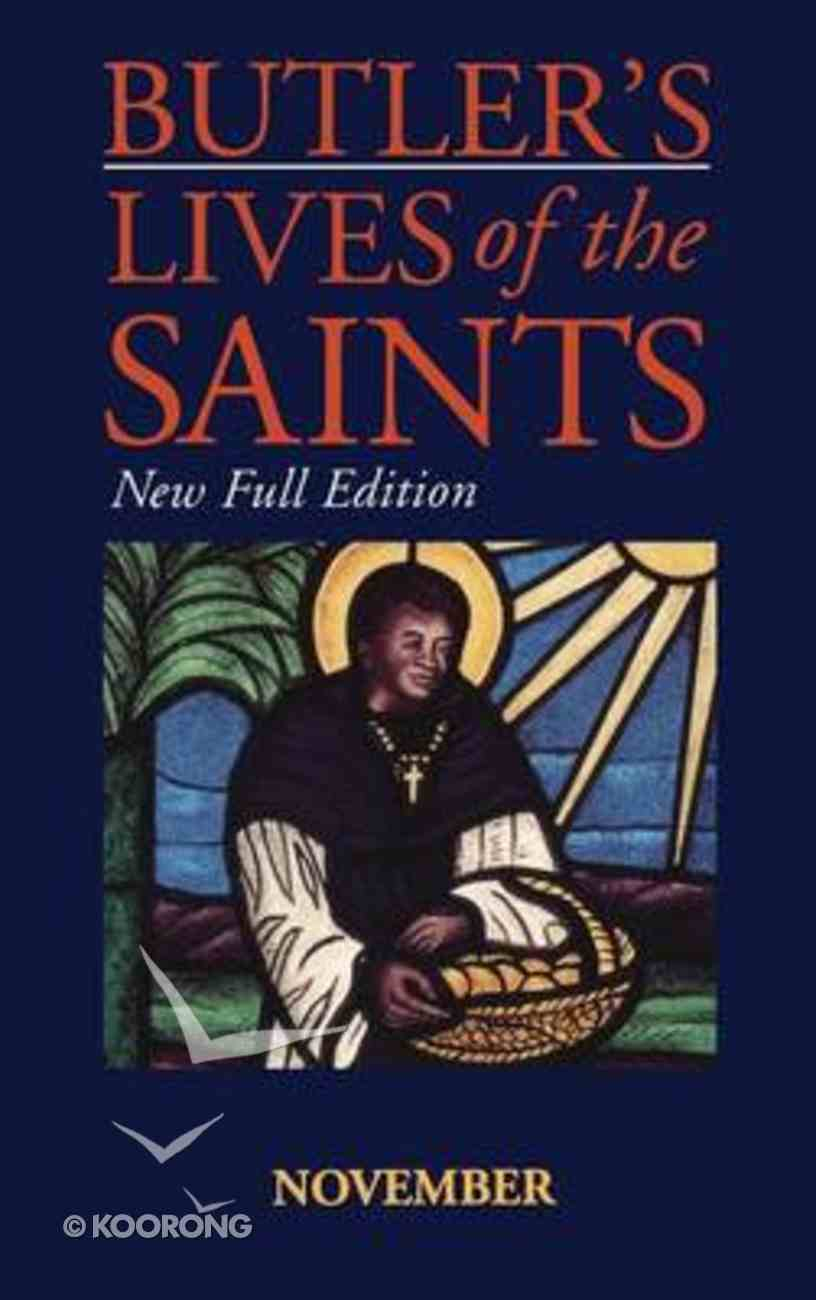 November (Butler's Lives Of The Saints Series) Hardback