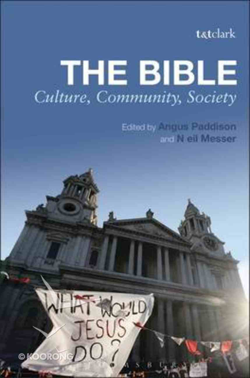 The Bible: Culture, Community, Society Paperback