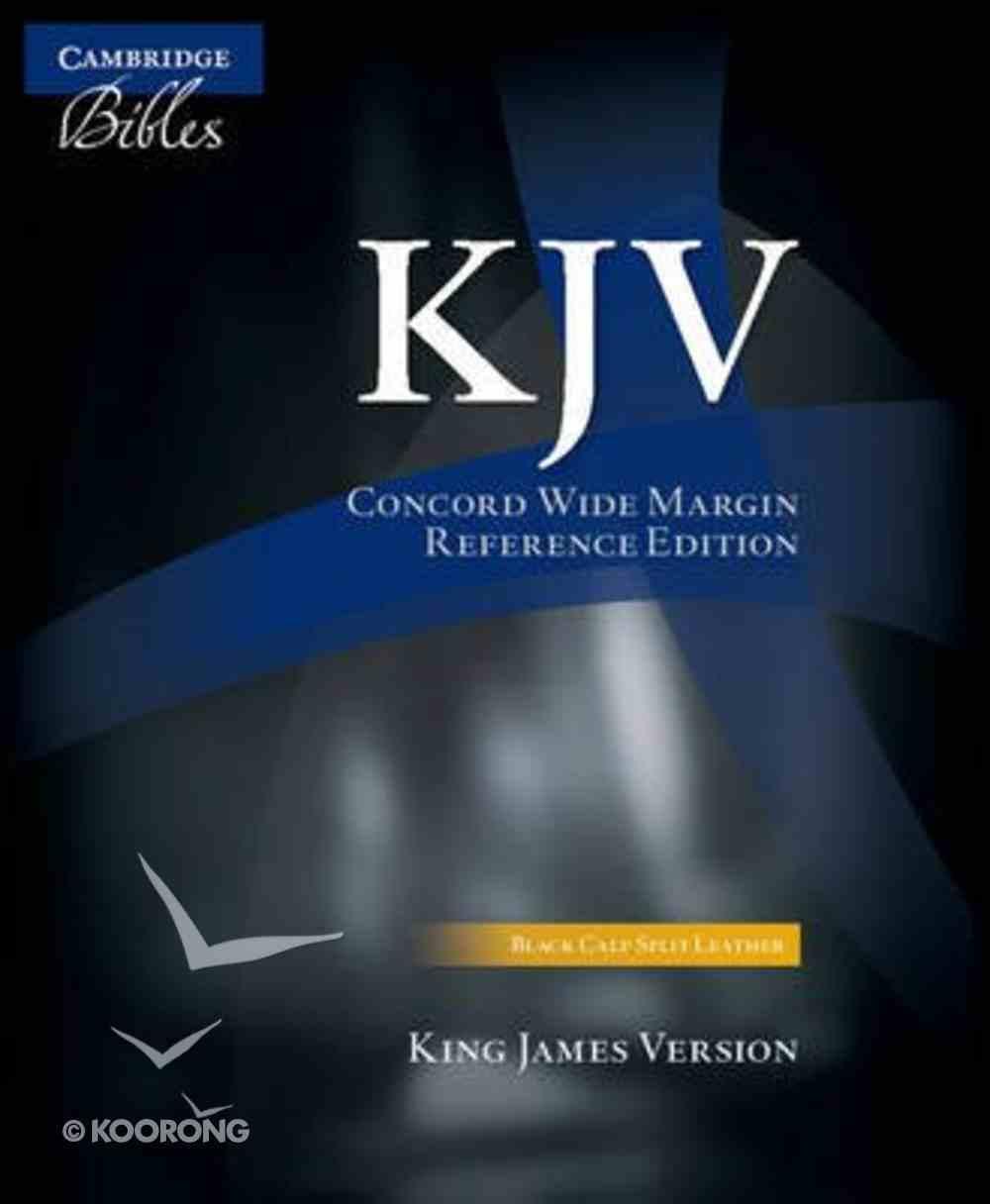 KJV Concord Wide-Margin Reference Black Calf Split Kj764: Xm Genuine Leather