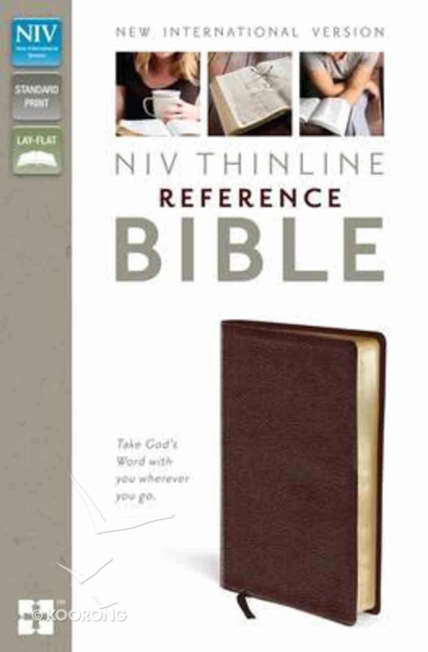 NIV Thinline Reference Bible Burgundy Leather Bonded Leather