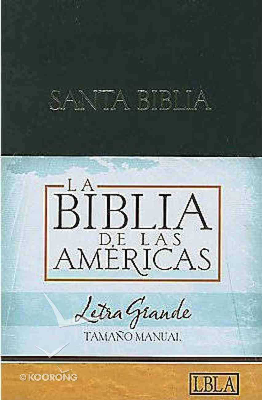 Lbla Biblia Letra Grande Tamao Manual, Tapa Dura Hardback