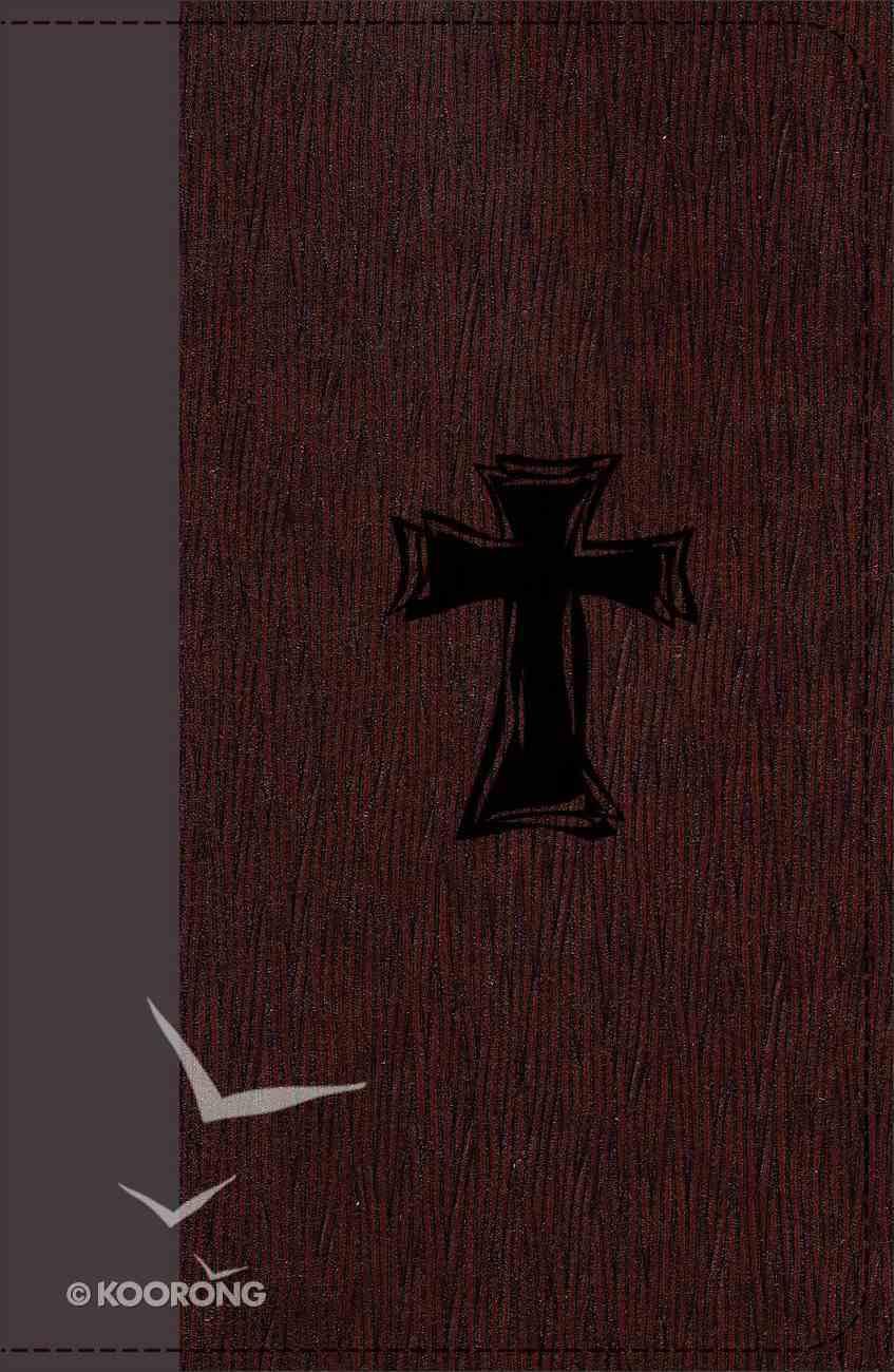 KJV Study Bible For Boys Autumn Bark, Cross Design Duravella (Red Letter Edition) Imitation Leather