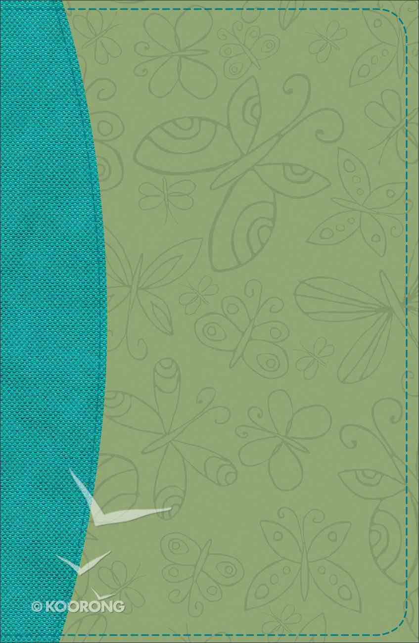 KJV Study Bible For Girls Willow/Turquoise Butterfly Design Duravella (Red Letter Edition) Imitation Leather