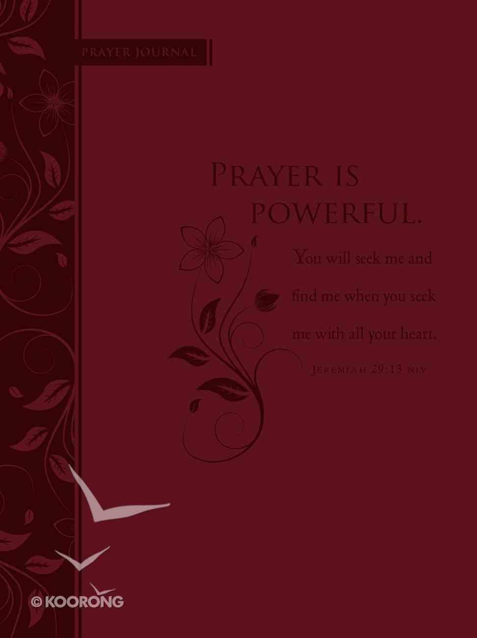 Journal: Prayer is Powerful (Ribbon Marker) Imitation Leather