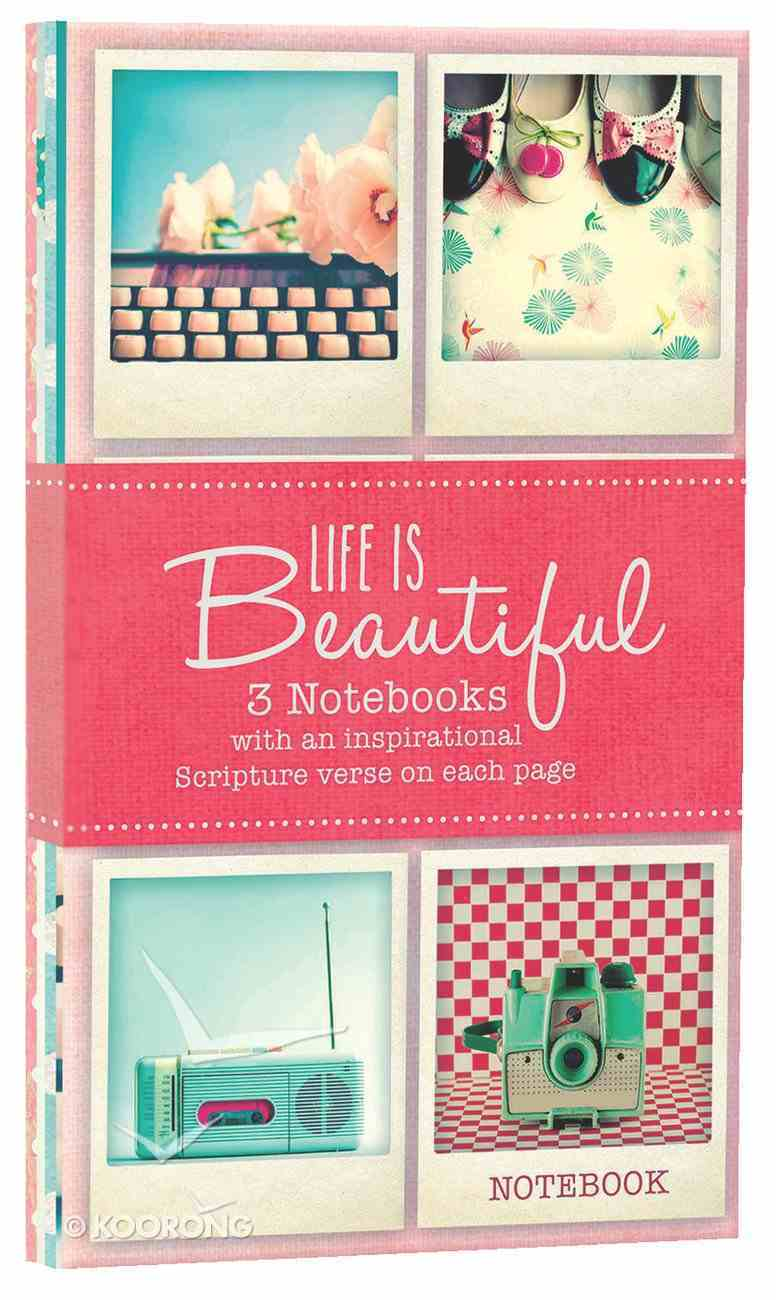 Notebook Set: Life is Beautiful (3x Notebooks) Pack