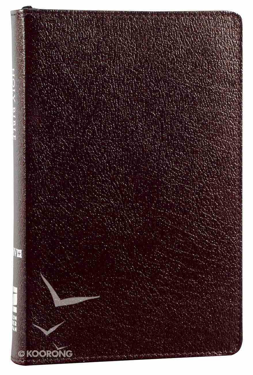 NIV Compact Thinline Bible Zippered Burgundy (Red Letter Edition) Bonded Leather