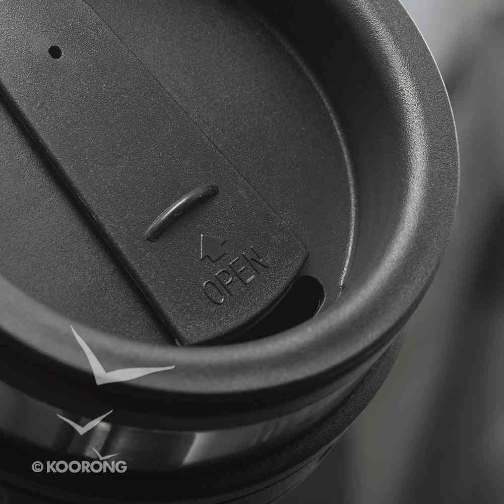 Stainless Steel Travel Mug With Handle: Crown, John 15:13 Homeware