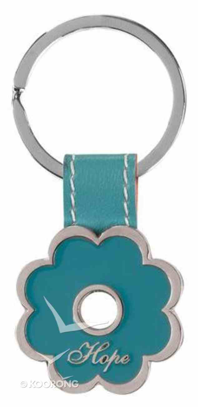 Metal Keyring: Hope, Turquoise Flower Jewellery