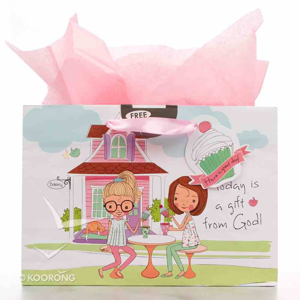Gift Bag Large Holly & Hope: Today is a Gift From God (Incl Tissue Paper & Gift Tag) Stationery