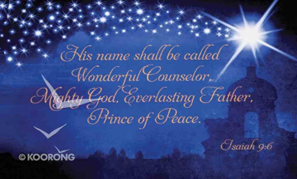 Christmas Pass-Around Cards: Names of Jesus (Pk 25) (Isaiah 9:6) Cards