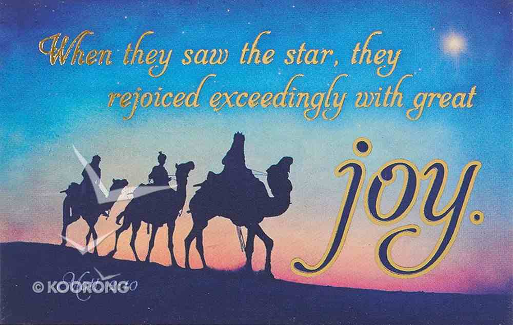 Christmas Pass-Around Cards: Joy (Pk 25) (Matthew 2:10) Cards