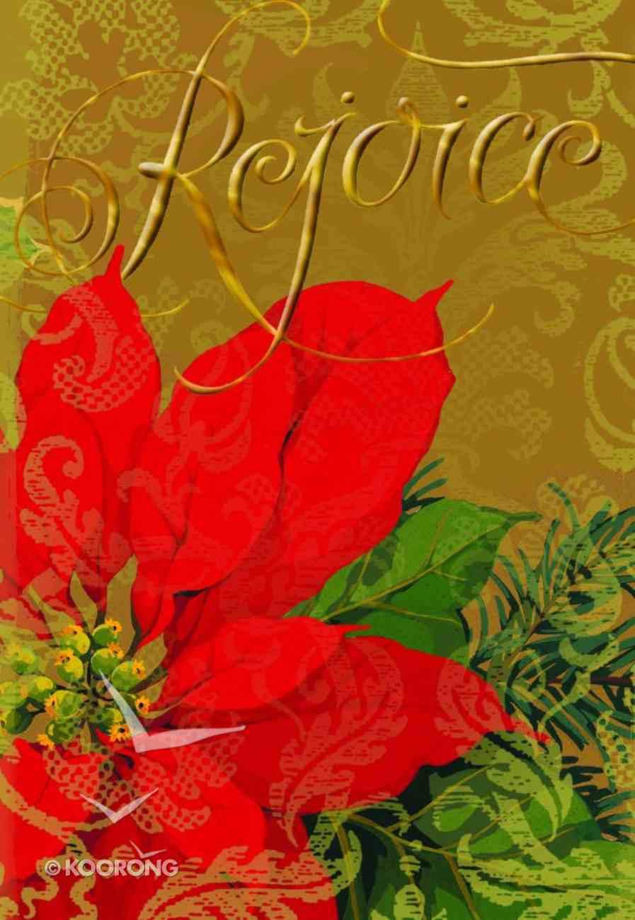 Christmas Boxed Cards: Rejoice Floral (Luke 2:7 Kjv) Box