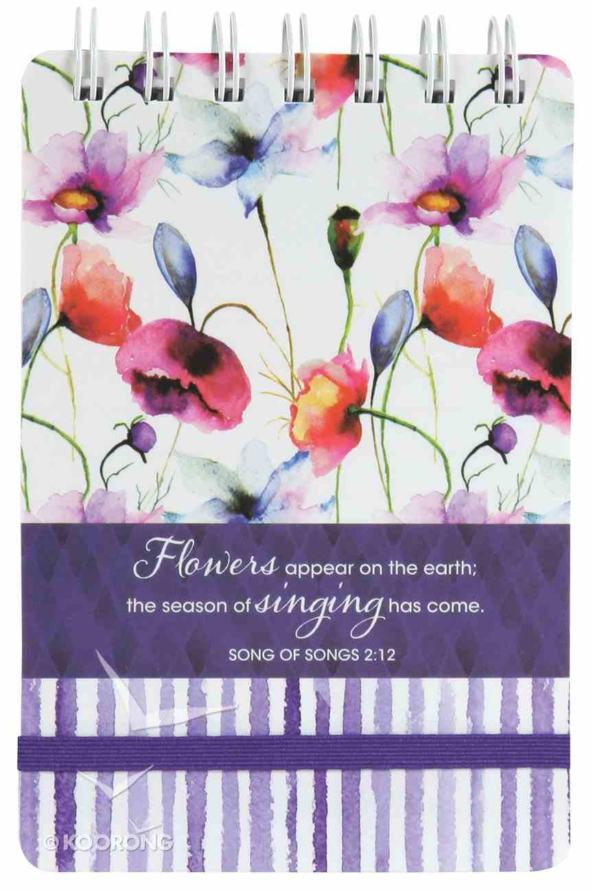 Notepad: Seeds of Love (Purple/flowers) Spiral