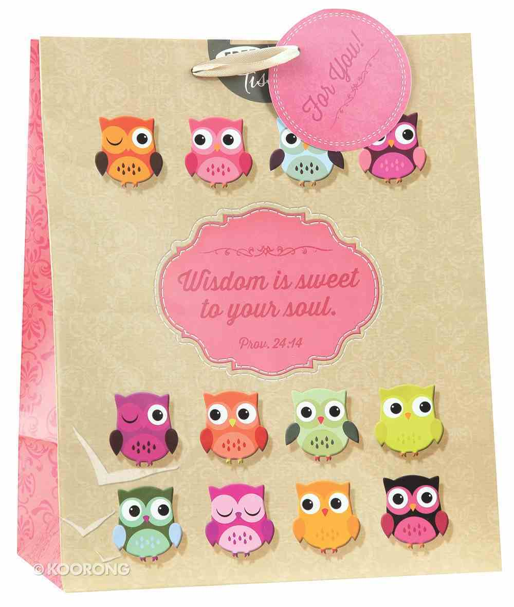 Gift Bag Large Owl: Wisdom For the Soul (Incl Tissue Paper & Gift Bag) Stationery