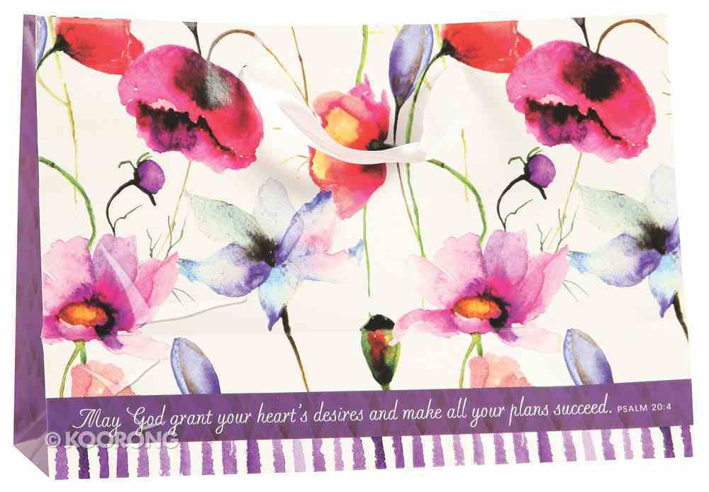 Gift Bag Large: Seeds of Love, Especially For You (Incl Tissue Paper & Gift Tag) (Purple/flowers) Stationery