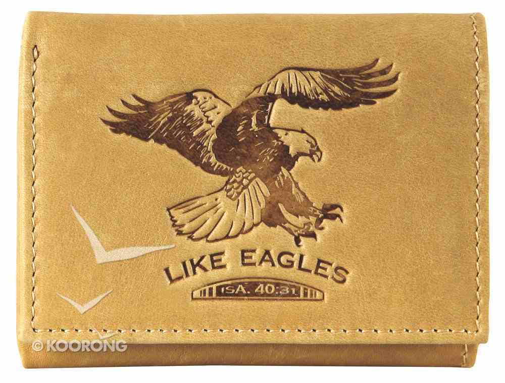 Mens Genuine Leather Wallet: Like Eagles Light Brown Soft Goods