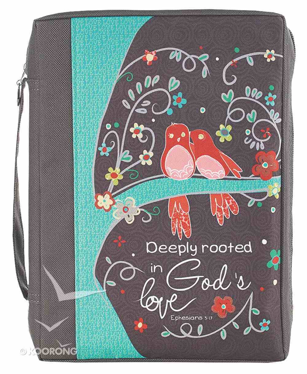 Bible Cover Value Large: God's Love Eph. 3:17 Bible Cover