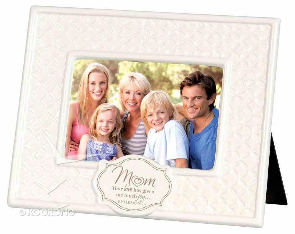 Ceramic Pattern of Praise Photo Frame: Mum Your Love Has Given Me Much Joy (Philemon 1:7) Homeware