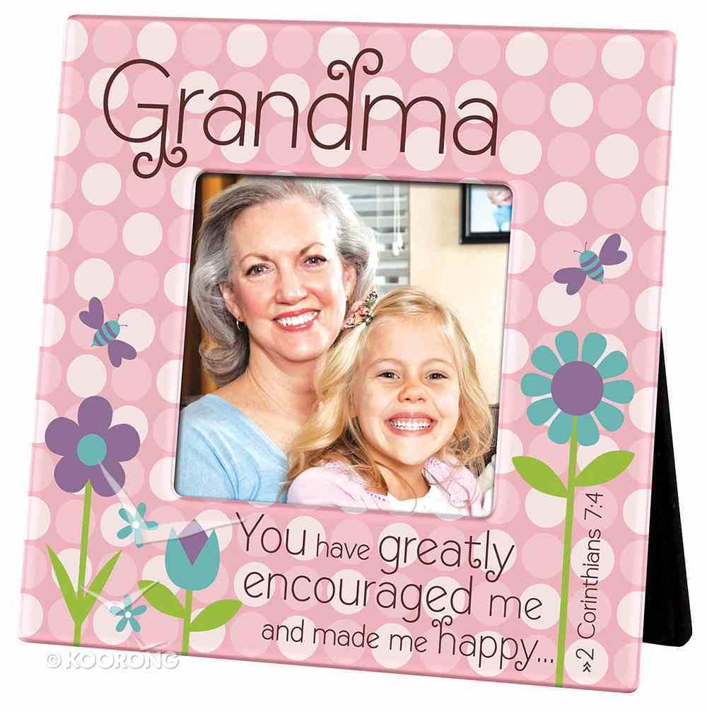 Ceramic Dots Photo Frame: Grandma - You Have Greatly Encouraged Me... (2 Cor 7:4) Homeware