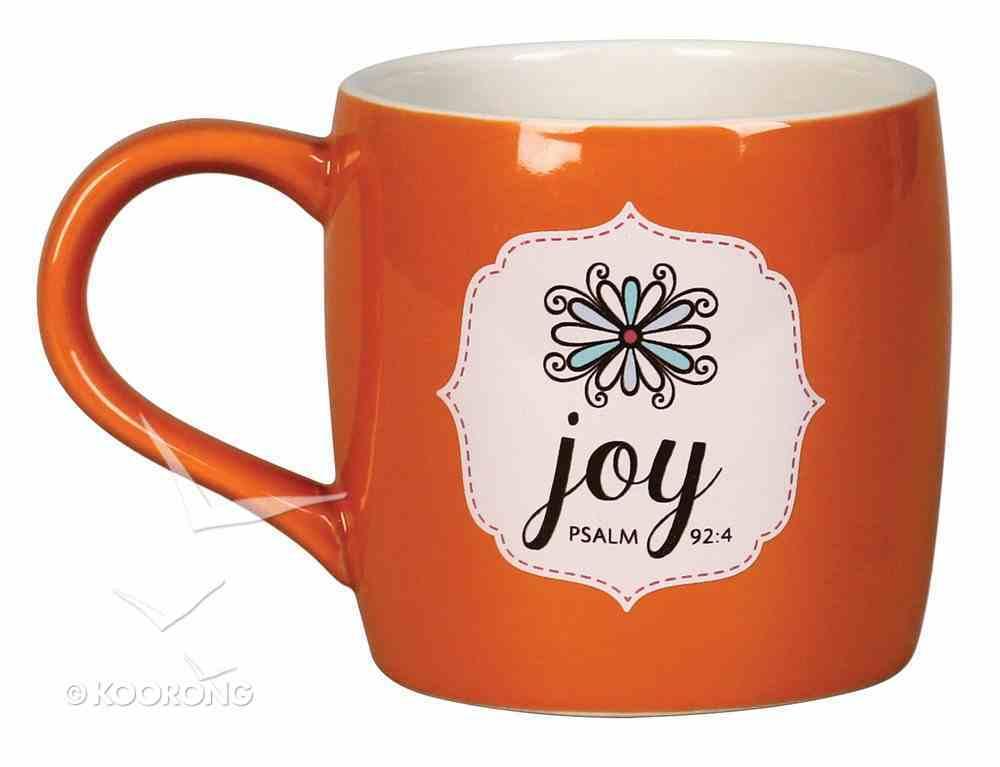 Ceramic Mug: Filled With Joy W/10 Scripture Cards (Orange/white) Homeware