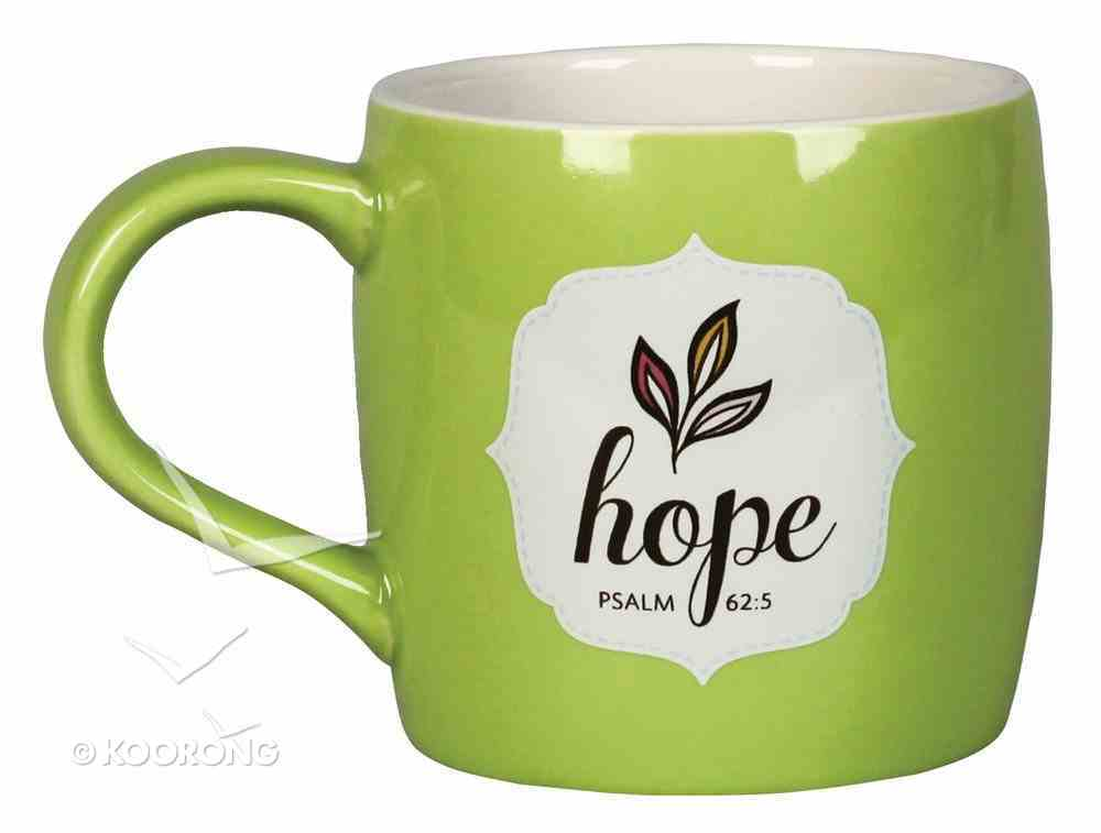 Ceramic Mug: Filled With Hope, W/10 Scripture Cards (Lime/white) Homeware
