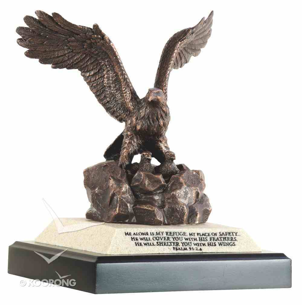 Moments of Faith Sculpture: Eagle With Eaglets (Psalm 91:1-4) Homeware