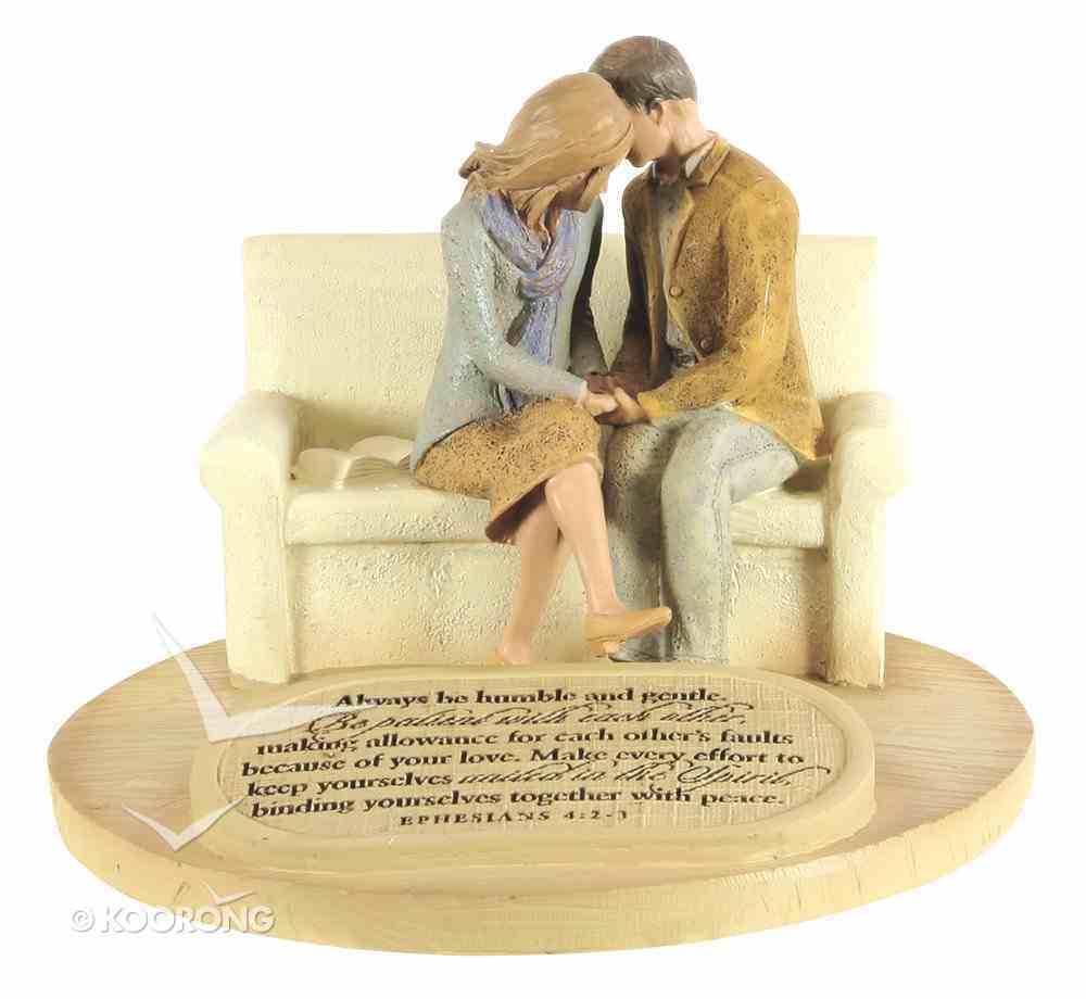 Devoted Sculpture: Praying Couple Always Be Humble and Gentle... (Eph 4:2-3) Homeware