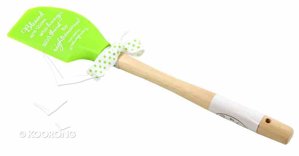 Silicone Spatula Green: Blessed Are Those Who Hunger & Thirst For Righteousness Homeware