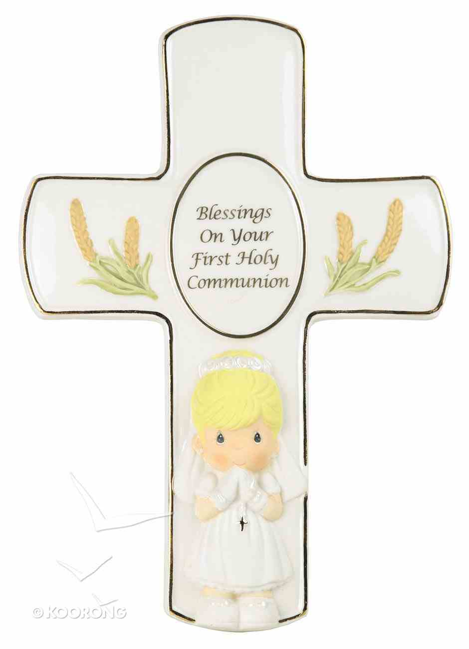 Precious Moments Cross: Girl, Blessings on Your First Holy Communion Homeware