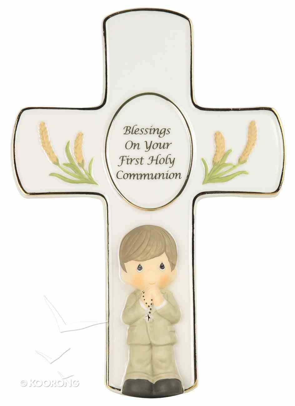 Precious Moments Cross: Boy, Blessings on Your First Holy Communion Homeware