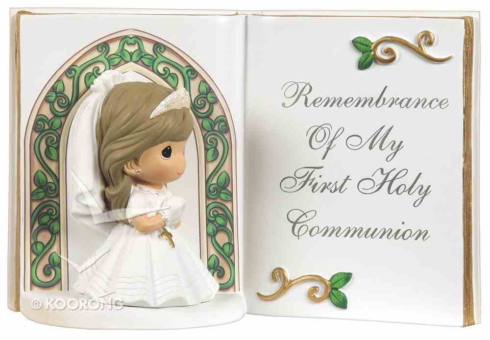 Precious Moments Bible Figurine: Girl, Remembrance of My First Holy Communion Homeware
