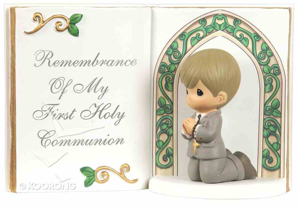 Precious Moments Bible Figurine: Boy, Remembrance of My First Holy Communion Homeware