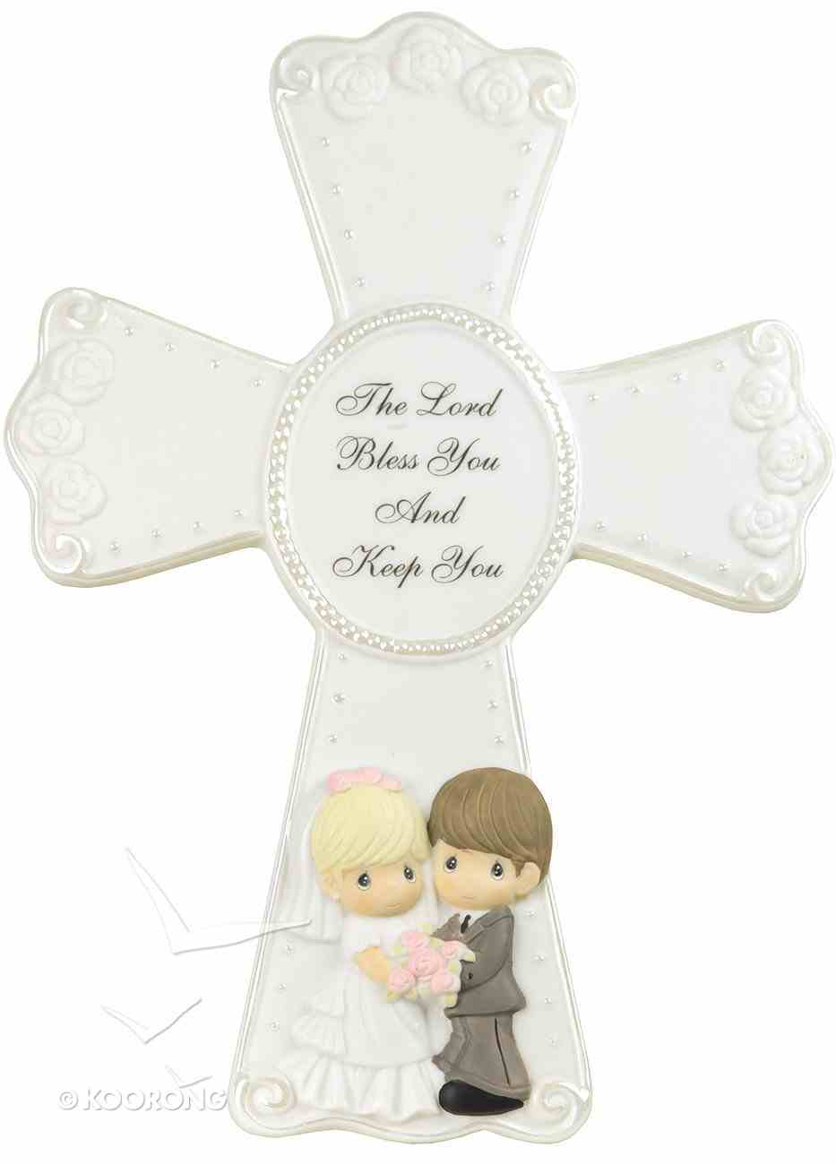 Precious Moments Wedding Cross: The Lord Bless You and Keep You Homeware