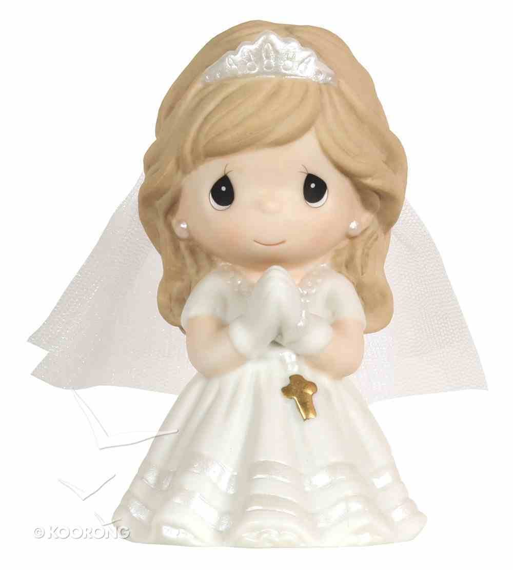 Precious Moments Figurine: Girl, Kneeling My First Holy Communion Homeware