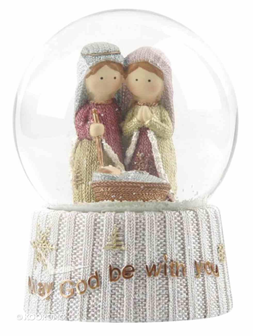 Resin Knitted Finish Holy Family: Waterglobe Homeware