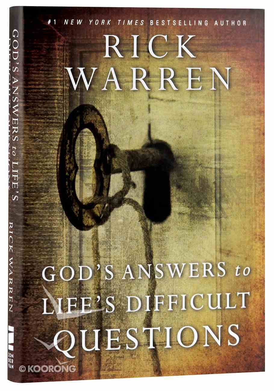 God's Answers to Life's Difficult Questions (Living With Purpose Series) Hardback