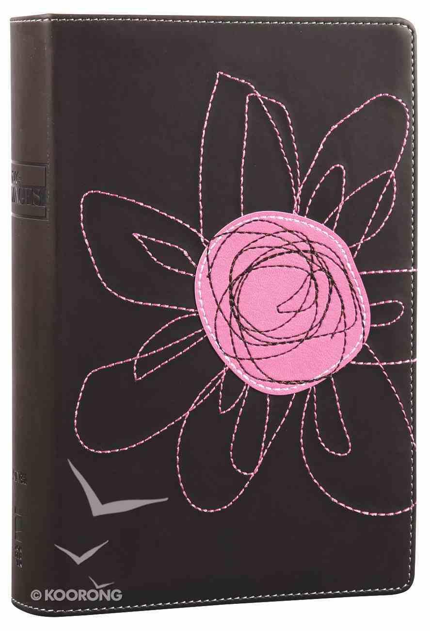 NIV True Images Bible Teen Girls Pink Flower Duo-Tone Imitation Leather