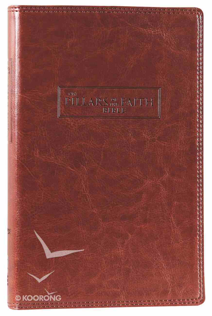 NIV Pillars of the Faith Bible Caramel Duo-Tone (Red Letter Edition) Imitation Leather