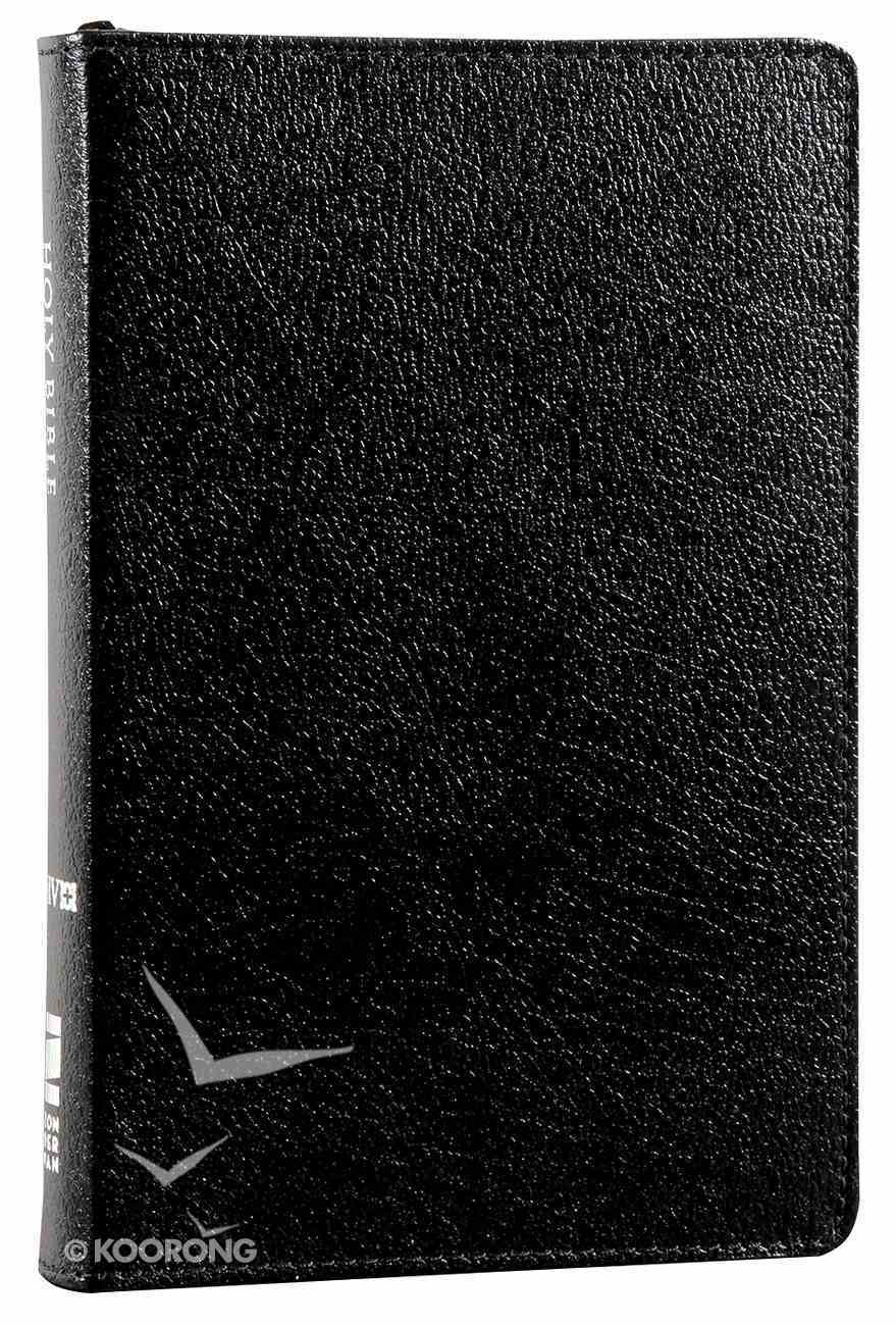 NIV Compact Thinline Bible Zippered Black (Red Letter Edition) Bonded Leather