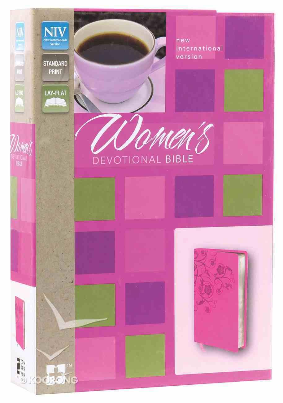 NIV Women's Devotional Bible Raspberry (Black Letter Edition) Premium Imitation Leather