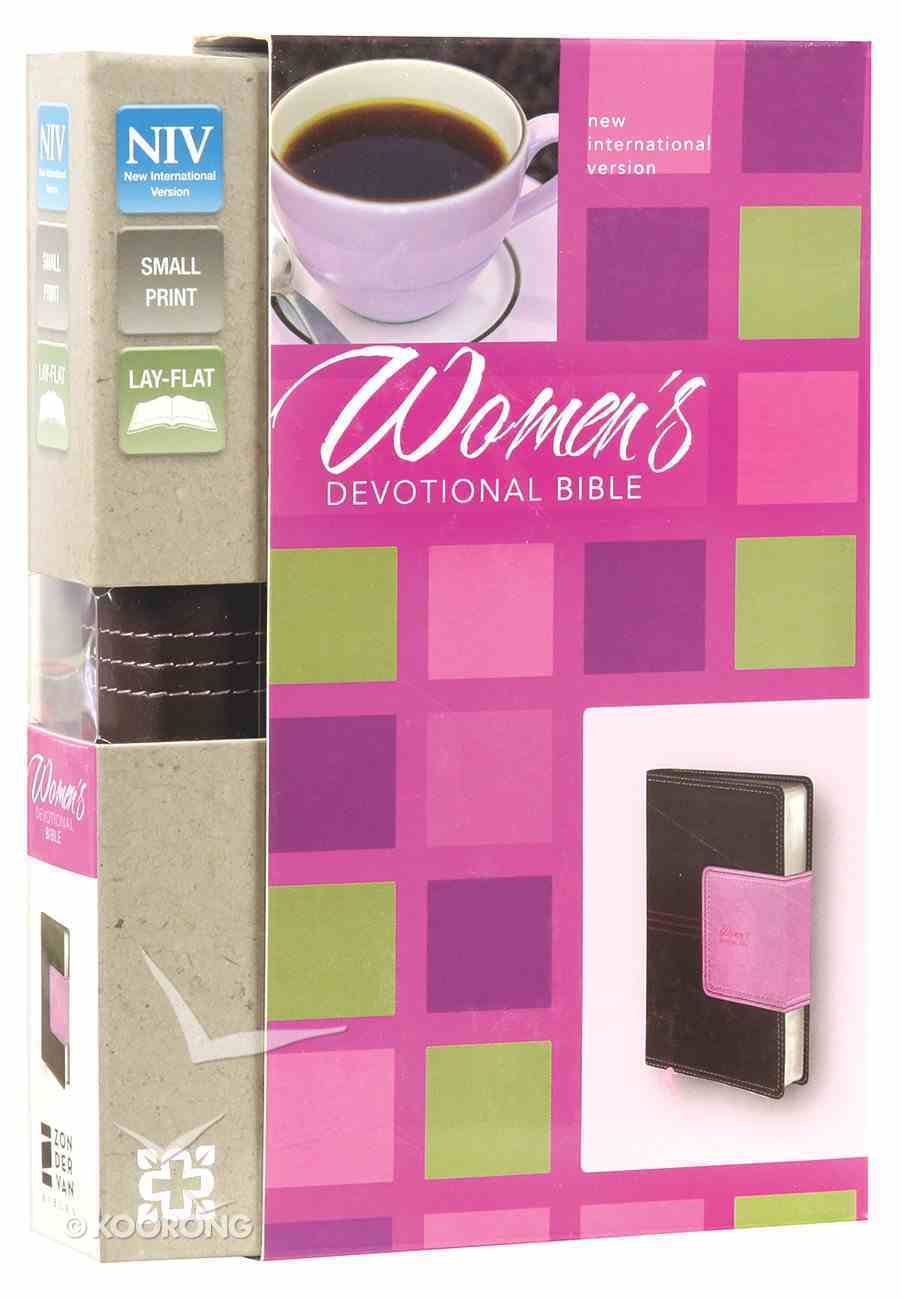 NIV Women's Devotional Bible Compact Chocolate/Orchid Imitation Leather