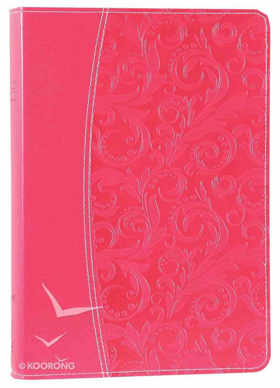 NIV Essentials Study Bible Honeysuckle Pink Premium Imitation Leather