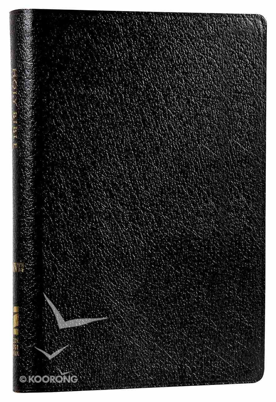 NIV Compact Thinline Reference Bible Black (Red Letter Edition) Bonded Leather