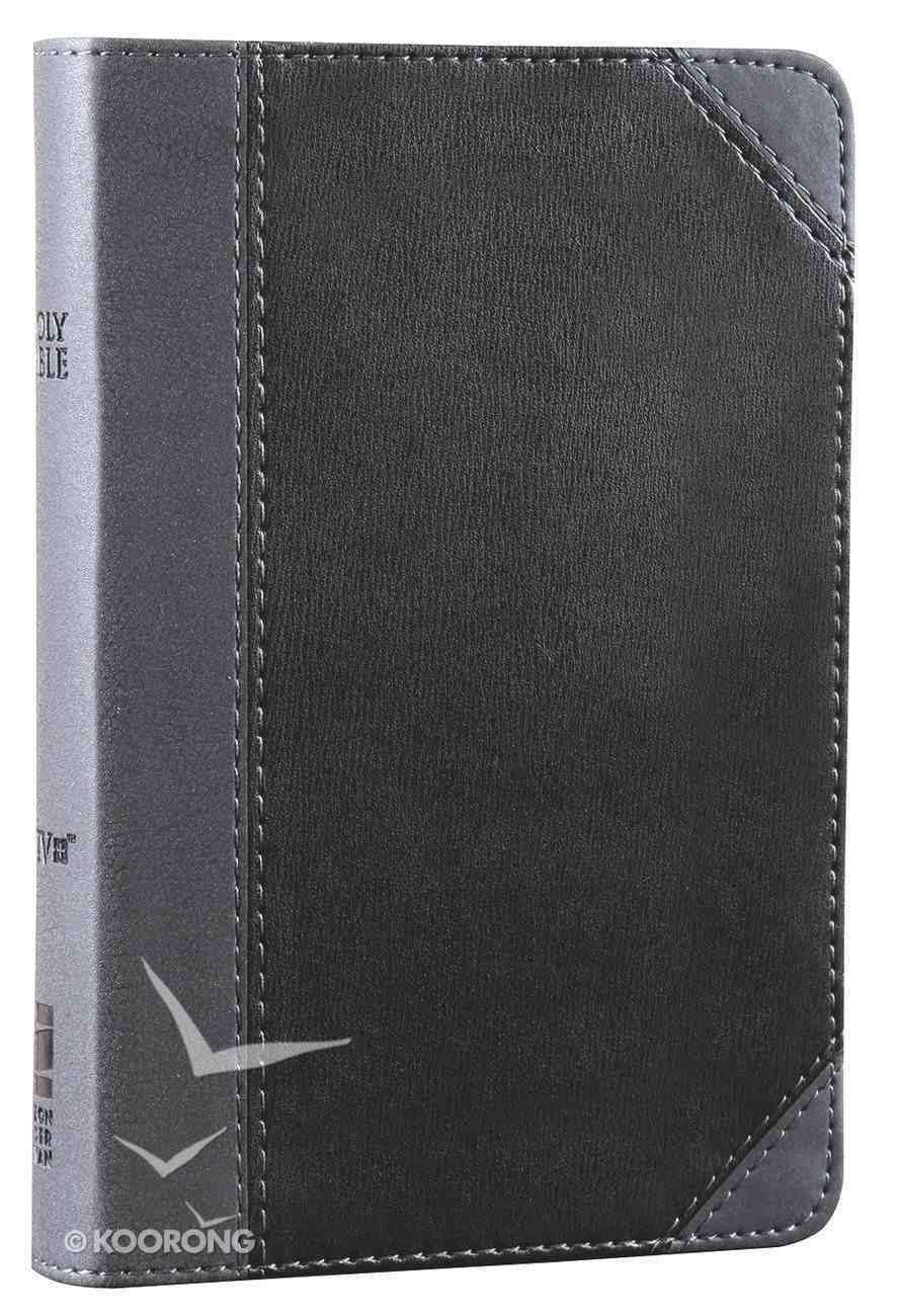 NIV Compact Thinline Bible Charcoal/Black Black Letter Imitation Leather